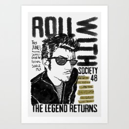 roll with it! Art Print