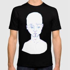 Troubled Young Man MEDIUM Black Mens Fitted Tee