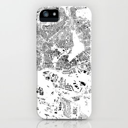 Hamburg Map Schwarzplan Only Buildings iPhone Case