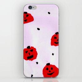 Vibrant Pumpkins pattern iPhone Skin