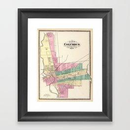 Map of Columbus 1872 Framed Art Print