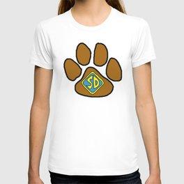 Cartoon Dog Paw Print T-shirt