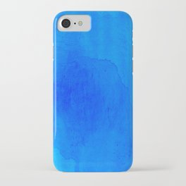 DARK BLUE WATERCOLOR BACKGROUND  iPhone Case