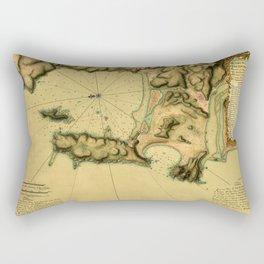 Map Of Concepcion Bay 1782 Rectangular Pillow