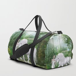 Wonderful fairy with unicorn Duffle Bag