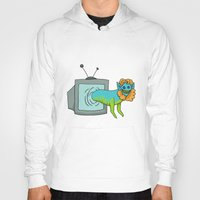 tv Hoodies featuring TV by Satyrbug