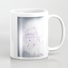 Determination of a young Amelia Earhart,colored pencil sketch Coffee Mug
