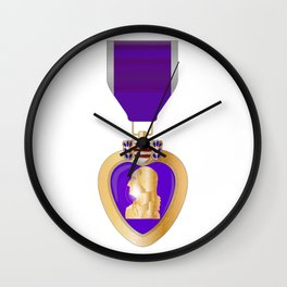 Purple Heart Medal Wall Clock