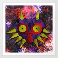 majora Art Prints featuring Majora by Bradley Bailey