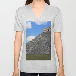 Chichen Itza Temple of Kukulcan south-west View Unisex V-Neck