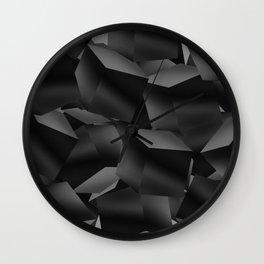 Black Fade Cubes Wall Clock