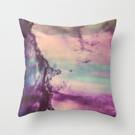 Purple Fluorite from our Earth Throw Pillow