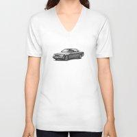 mercedes V-neck T-shirts featuring Mercedes-Benz E-Class Coupe by Gábor Vida
