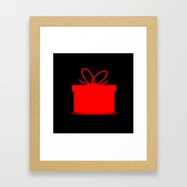 Present In A Red Box Framed Art Print