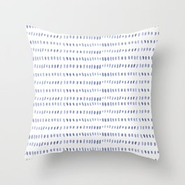 Pastel blue watercolor hand painted brushstrokes pattern Throw Pillow