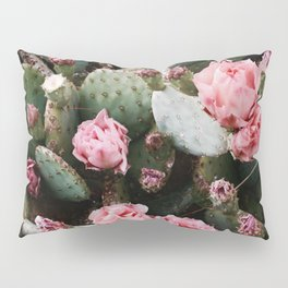 PINK CACTUS FLOWER ABSTRACT CLUSTER PATTERN Pillow Sham