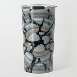 Xeric - Abstract sea colored pebbles X of Alphabet collection Travel Mug