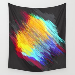 Streaky color patch Wall Tapestry