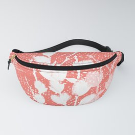 Pussywillow Silhouette – Coral Texture Fanny Pack