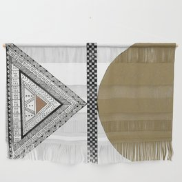Geometric Shapes with Gold, Copper and Silver Wall Hanging