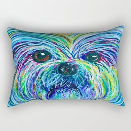 Shih Tzu Intense Colors Rectangular Pillow