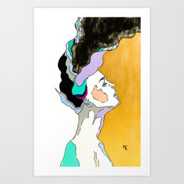 Explosion of Thoughts Art Print