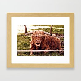 Greetings from the Highlands Framed Art Print