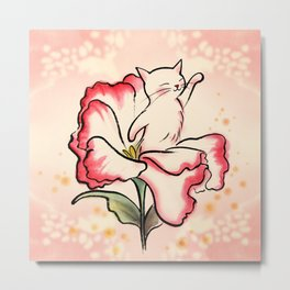 Flower heart baby Metal Print