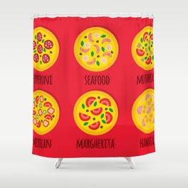 Pizzeria Pizza Menu Shower Curtain