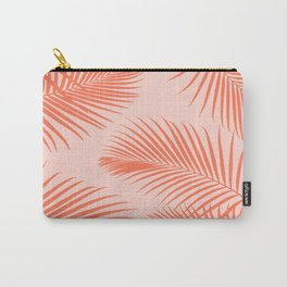Coral Palms ~ Summer Tropical Pattern Carry-All Pouch