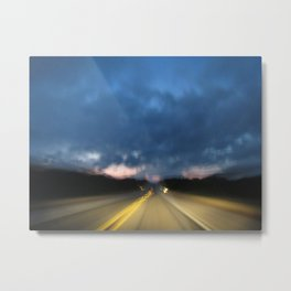 Dreary Road Metal Print