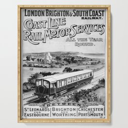 Affiche monochrome Coast Line Serving Tray