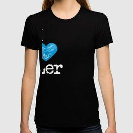 I Heart Ler   Love the god of the sea T-shirt