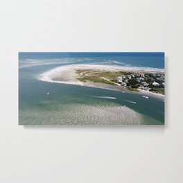 Rich's Inlet at the North End of Figure 8 Island 2 | Wilmington NC Metal Print