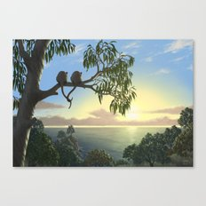 Lovers View Canvas Print