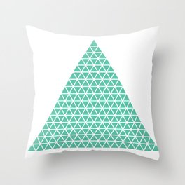 Geometric shape t-shirts & prints: Triangle (Tri x Tri) Multiple colours available... Throw Pillow