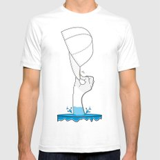 Saved from the waters White Mens Fitted Tee SMALL