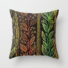 leaf red-green patern Throw Pillow