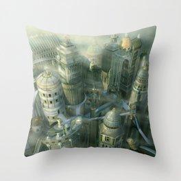 Ancient Atlantis Throw Pillow