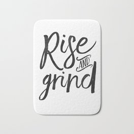 RISE AND GRIND, Bedroom Decor,Bedroom Wall Art,Home Decor,Motivational Quote,Rise And Shine Sign,Quo Bath Mat