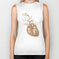tree Biker Tanks featuring Tree of Life by Enkel Dika