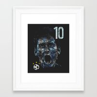messi Framed Art Prints featuring Messi by dan elijah g. fajardo