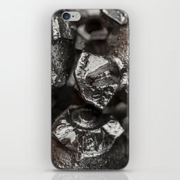 Metal Tricone Drill Bit iPhone Skin