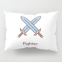 Cute Dungeons and Dragons Fighter class Pillow Sham