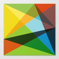 kaleidoscope Canvas Prints featuring Kaleidoscope by Marina Design