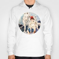 princess mononoke Hoodies featuring Princess Mononoke by Tiffany Willis