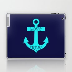 Anchor Navy Turquoise Laptop & iPad Skin