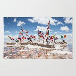 Salar de Uyuni International Flags Rug