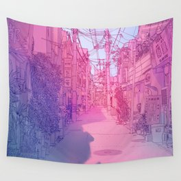 Naha Red Light Disctrict Wall Tapestry