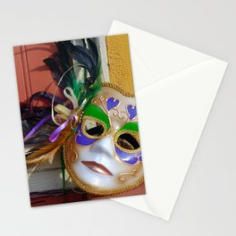 New Orleans Mardi Gras Mask Stationery Cards